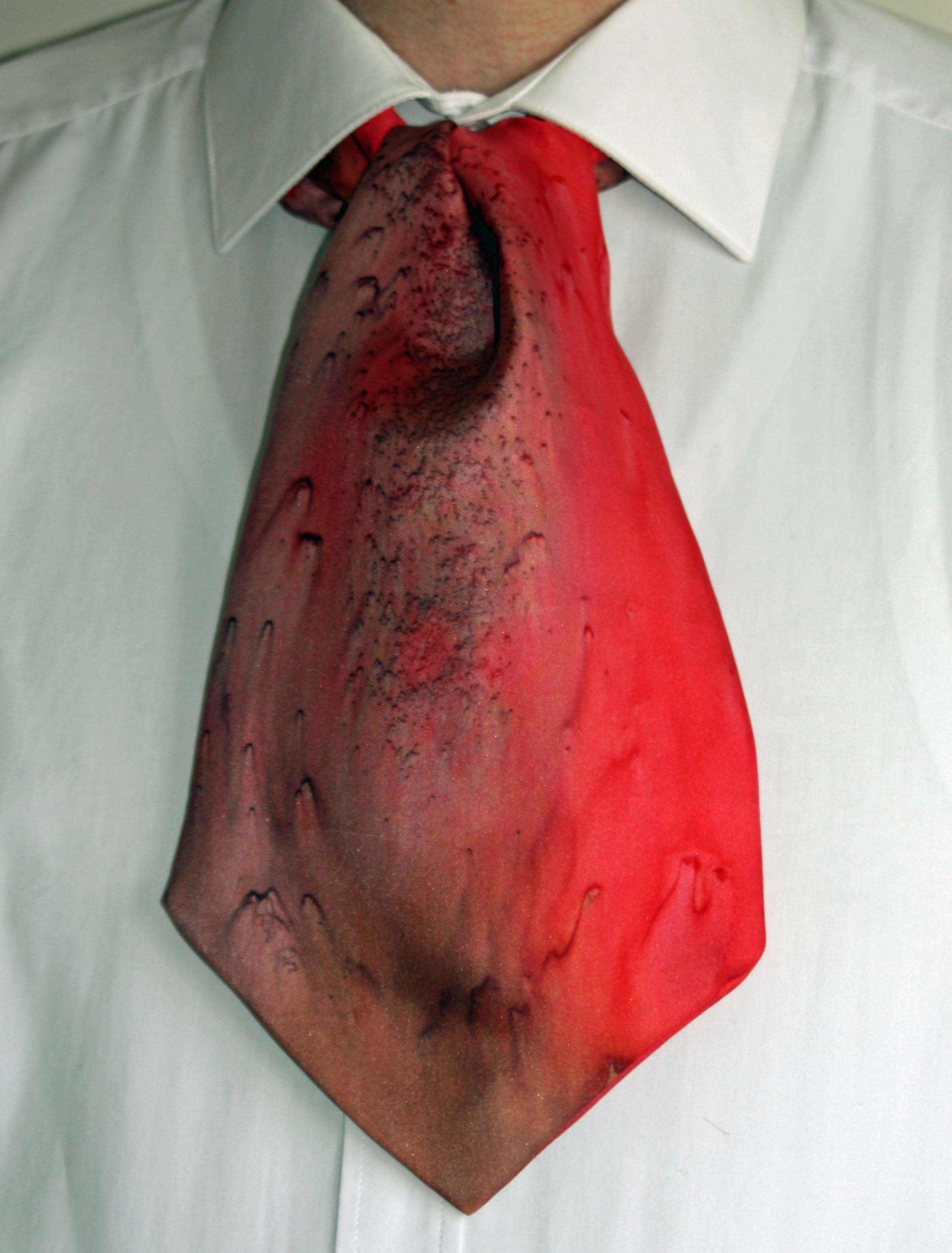 Brown and Red Silk Cravat