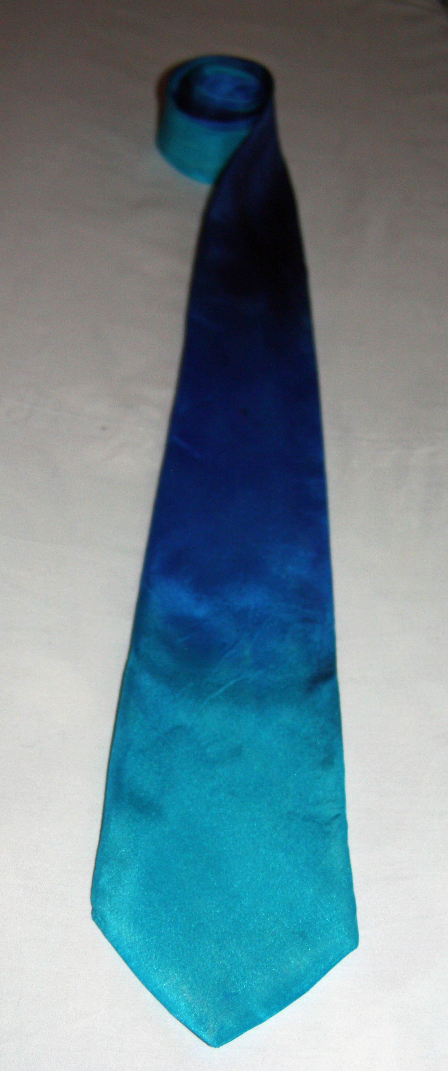 Turquoise, Blue and Navy Silk Tie