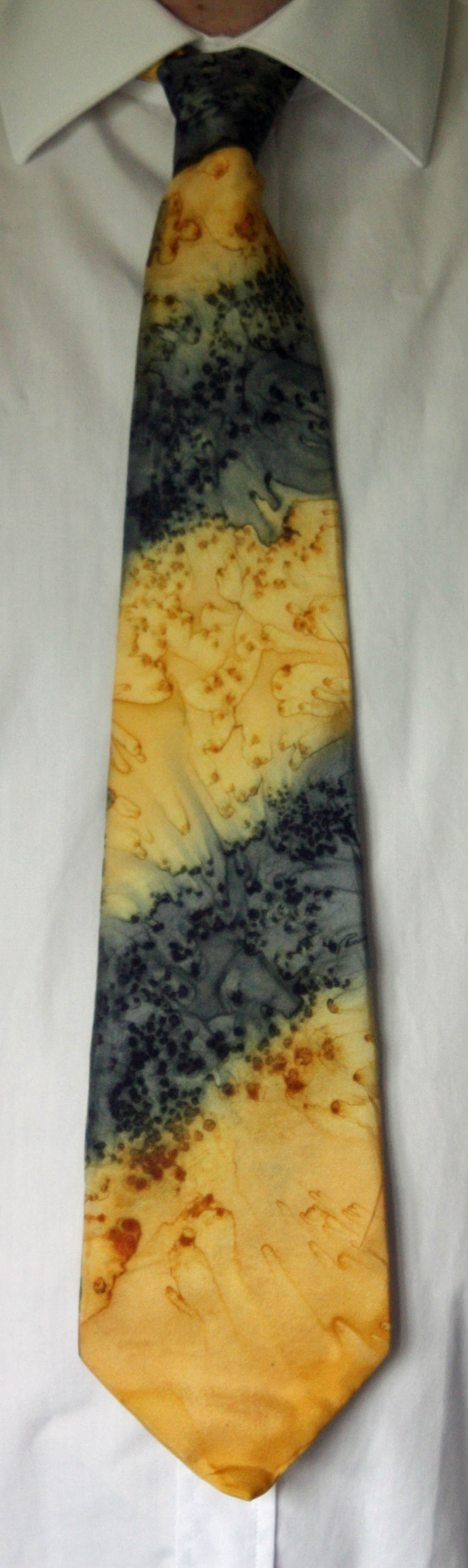 Black and Gold Classic Style Silk Tie